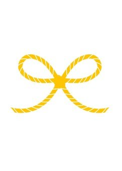 Flower knot water draw (yellow)