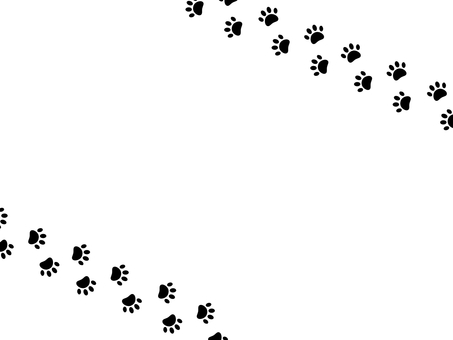 Cat's footprint frame