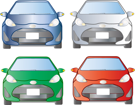 Small car front view illustration