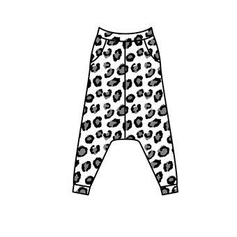 Leopard pattern Saruel pants