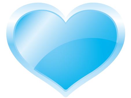 Heart icon (glossy / light blue)