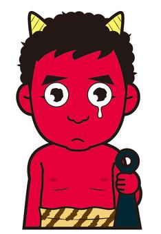 Akaoni (crying)