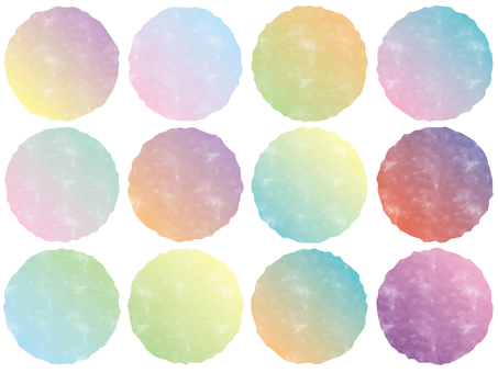 Watercolor style frame set