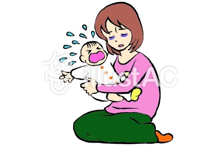 ママと赤ちゃんのイラスト