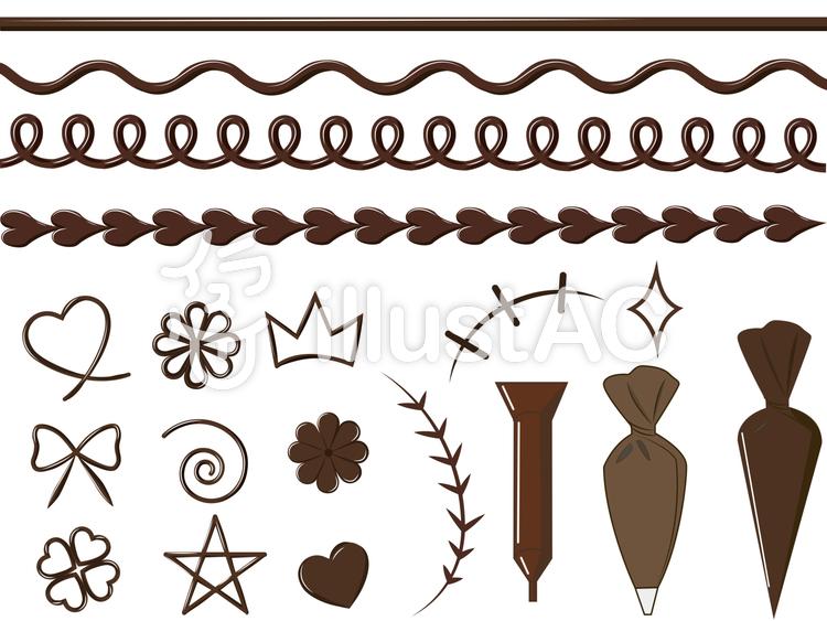 可愛いチョコペン素材のイラスト