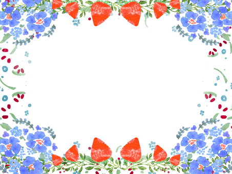 Watercolor floral frame ⑤