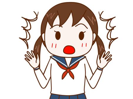 Surprised female student 2