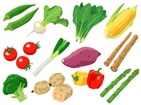 食材_野菜_セット2_線なし