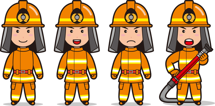 Fireman 6 (male fire protective clothing)