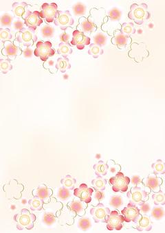 New Year pattern plum 13