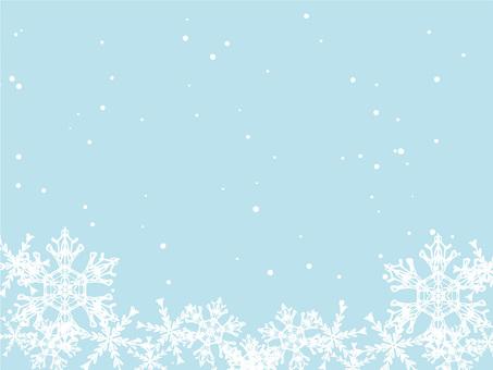 Winter snow scene frame 8