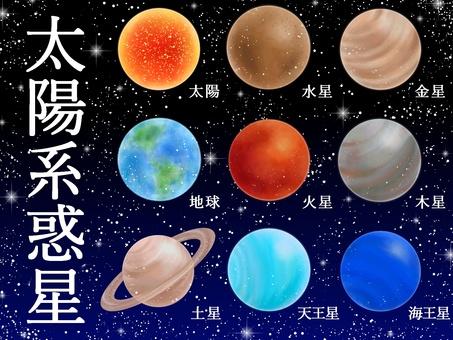 太陽系惑星のセット
