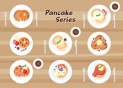 Pancake bird's-eye view