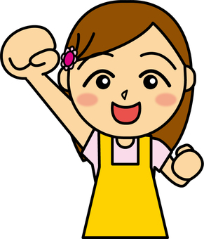Guts pose_ apron female 3
