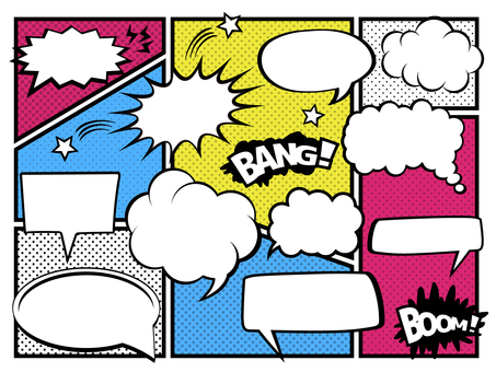 A011. American comic style speech bubble