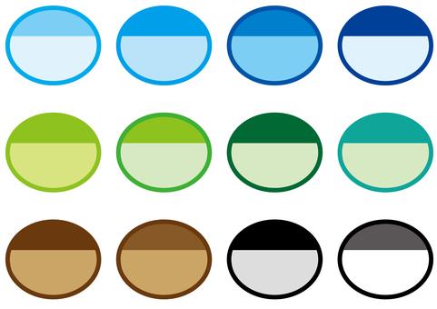 Title - Ellipse 2 color - B type