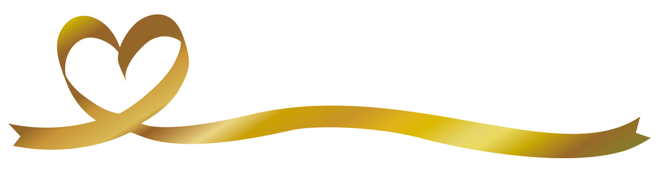Gold Gold Heart Ribbon Ribbon Line Decoration