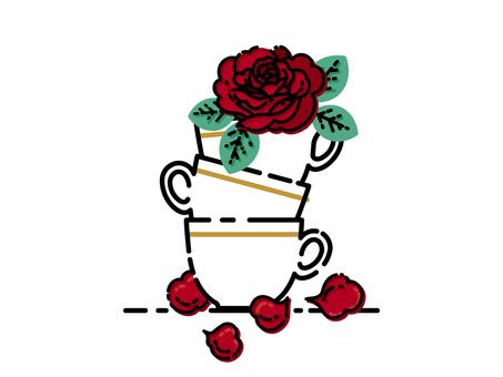 빨간 장미 소재