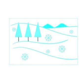 Snowy mountain icon 3