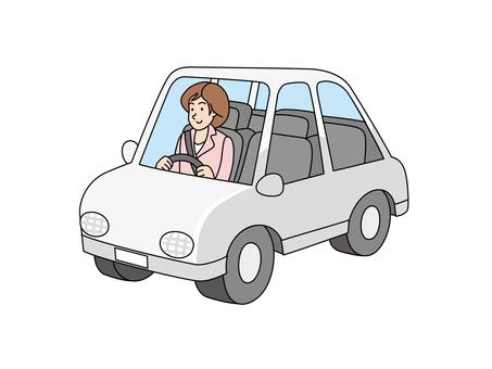 Female employee who got on sales vehicle 3