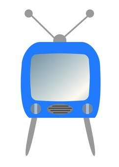 Retro TV (with legs × blue)