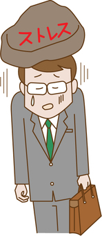A businessman with stress