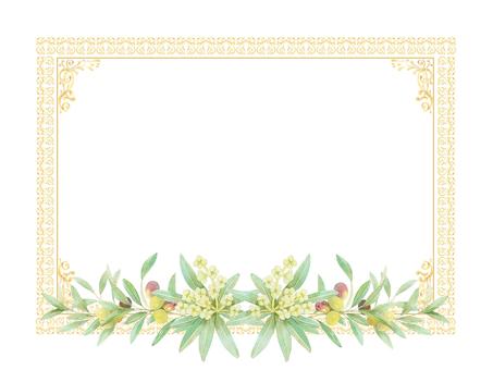 Olive decorative frame ★ 0390-F