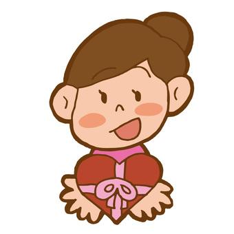 Valentine girl