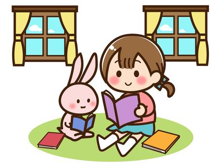 Reading 03 / Rabbit and rabbit reading book