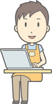 Nursery teacher - PC smile - whole body