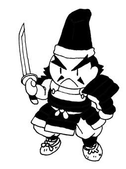 Black and white samurai