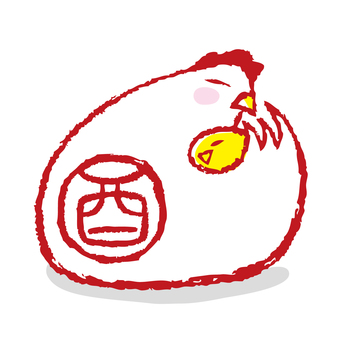 Rooster stamp 3