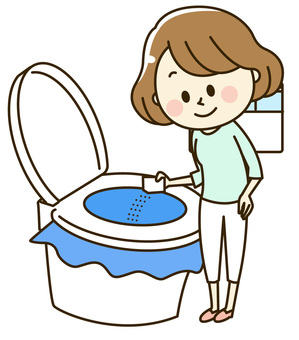 Women who use a simple toilet 2-10-5