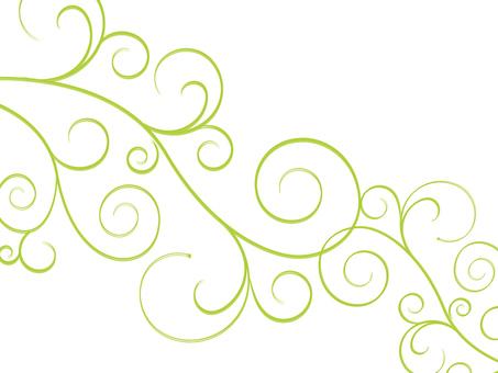 Decoration / flowers / vinegar / Swirls