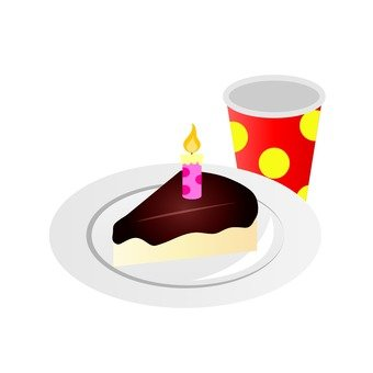 Cake and paper cup