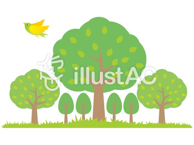 森の木々のイラスト