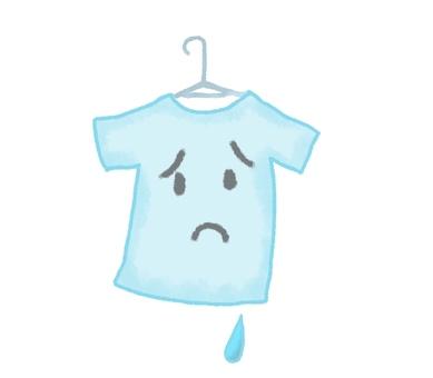 濡れている洗濯物