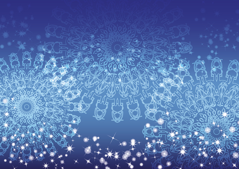Sparkling background (blue)