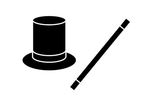 Walking stick and top hat
