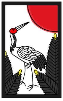 Hanafuda · pine tree crane