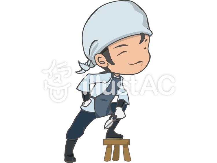 人物-男性-植木職人のイラスト