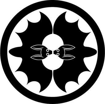 A bat against a circle