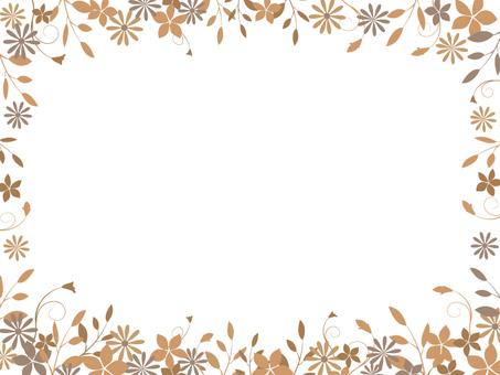 Flower and leaf frame 3
