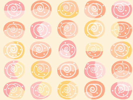 Pattern _ swirl orange