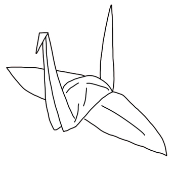 Folding cranes (white)