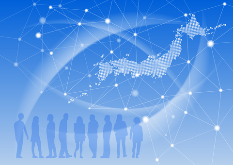 People and the Japanese archipelago network image