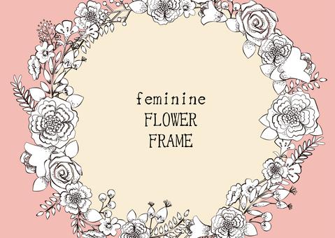 Flower decoration frame 8