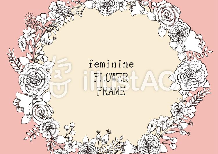 花飾りフレーム8イラスト No 741537無料イラストならイラストac