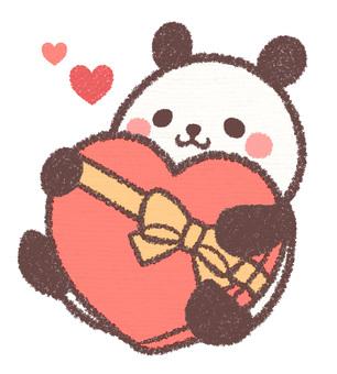 バレンタインパンダ