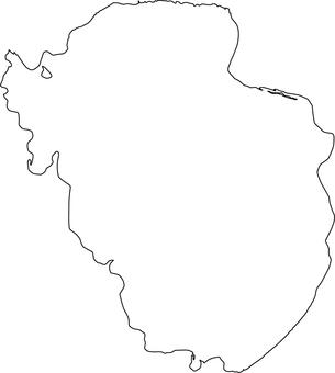 Lake Inawashiro _ line drawing